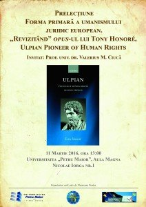 Prof Valerius Ciuca ULPIAN drepturile omului Tirgu Mures 2016